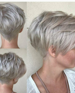 Stacked Pixie Haircuts With V-Cut Nape