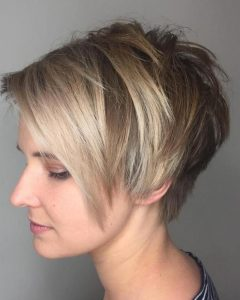 Choppy Side-Parted Pixie Bob Hairstyles