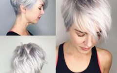 Choppy Gray Pixie Hairstyles