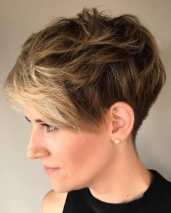 Messy Tapered Pixie Hairstyles