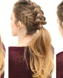 Triple Braid Ponytail Hairstyles