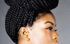 African Braid Updo Hairstyles