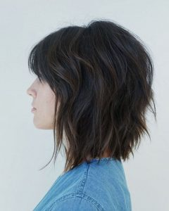 Cute Sliced Brunette Shaggy Haircuts
