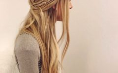 Double Braided Look Wedding Hairstyles for Straightened Hair