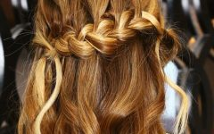 Folded Braided Updo Hairstyles