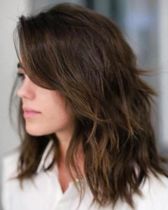 Mid-Length Feathered Shag Haircuts For Thick Hair