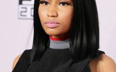 Minaj Pony Hairstyles with Arched Bangs