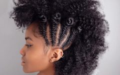 Mohawk Hairstyles with Braided Bantu Knots