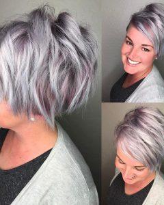 Shaggy Grey Hairstyles