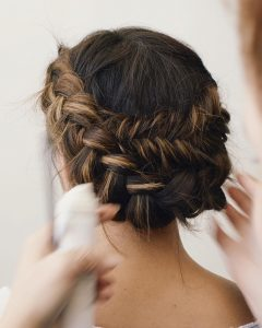 Blooming French Braid Prom Hairstyles