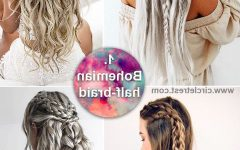 Boho Half-Braid Hairstyles