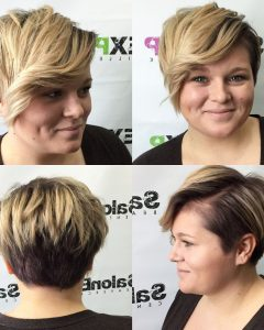Disconnected Blonde Balayage Pixie Hairstyles