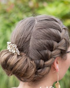 Jewelled Basket-weave Prom Updos