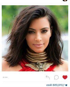 Kim Kardashian Medium Hairstyles