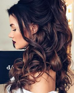 Large Curl Updos For Brides