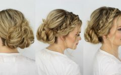 Messy Bun with French Braids