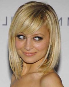 Nicole Richie Shoulder Length Bob Hairstyles