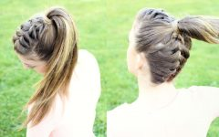 Reverse French Braid Ponytail Hairstyles
