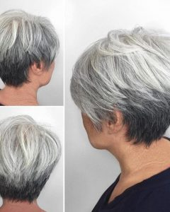 Reverse Gray Ombre Pixie Hairstyles For Short Hair