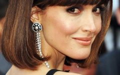 Rose Byrne Parted Blunt End Bob Hairstyles