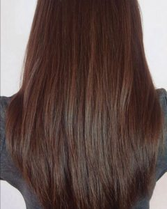 V-Cut Layers Hairstyles For Straight Thick Hair
