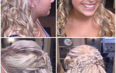 Pretty Pinned Back Half Updo Braids