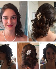 Side Bun Prom Hairstyles with Jewelled Barrettes