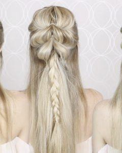 Upside Down Fishtail Braid Hairstyles
