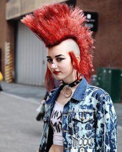 Rocker Girl Mohawk Hairstyles