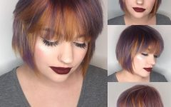 Feathered Bangs Hairstyles with a Textured Bob