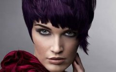 Purple and Black Short Hairstyles
