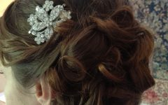 Side Bun Prom Hairstyles with Orchids