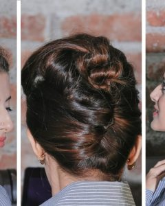 Quick Twist Updo Hairstyles