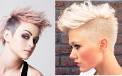 Bleached Feminine Mohawk Hairstyles
