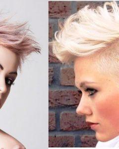 Bleached Feminine Mohawk Hairstyles