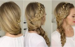 French Braids Crown and Side Fishtail