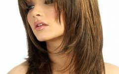 Long Hairstyles for Round Faces with Bangs