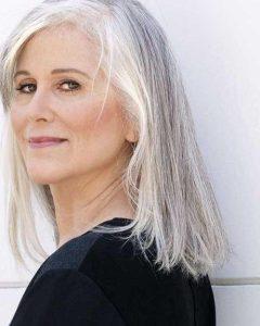 Long Hairstyles on Older Women