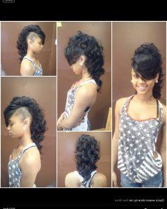 Long Straight Hair Mohawk Hairstyles