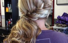 Low Curly Side Ponytail Hairstyles for Prom
