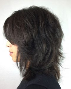 Medium Hairstyles With Feathered Sides