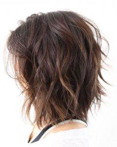 Medium Loose Chocolate Shag Haircuts