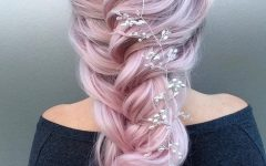 Pink Rope-braided Hairstyles