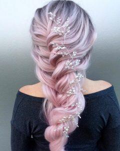 Pink Rope-braided Hairstyles