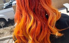 Red, Orange and Yellow Half Updo Hairstyles