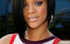 Rihanna Bob Hairstyles with Weave
