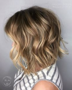 Shaggy Lob Hairstyles With Beach Waves