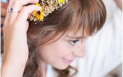 Wedding Hairstyles with Sunflowers