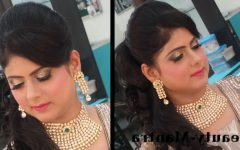 Wedding Reception Hairstyles for Indian Bride
