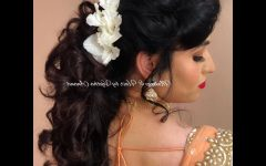 Curly Wedding Hairstyles with an Orchid